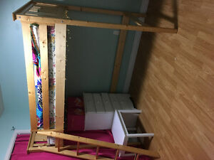 Loft bed, very sturdy, solid wood!