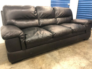 Black Leather COUCH -  Delivery