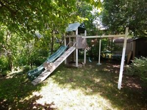 Backyard Climber, Slide and Swing Set