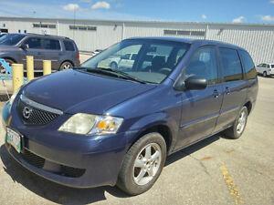 ** Safetied,2002 Mazda MPV LX, Mint Condition, w/ Winter Tires