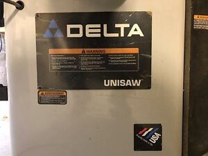 Tablesaw Delta Unisaw For Sale