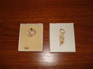 Brand new in box -Silver hoop earrings from Charm Diamond Center