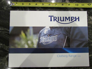 TRIUMPH 2005 MOTORCYCLE CLOTHING RANGE CATALOG