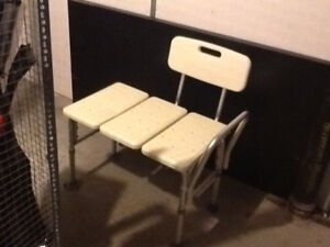 shower bench plus set of crutches