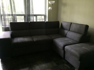 Urgent 1 year used L-shape couch