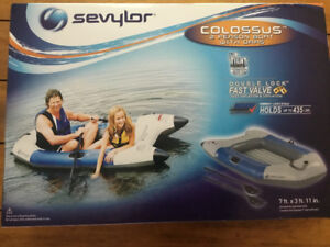 Sevylor Colossus 2 person boat with oars