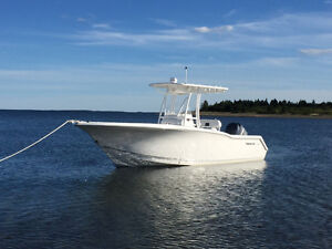Center console Tidewater 230 CC with hard T-Top