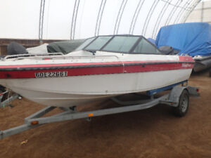 150hp Mercury Black Max with boat and trailer