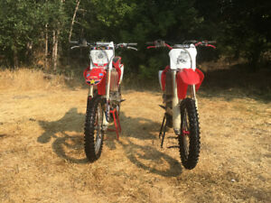 2008 and 2005 crf450r