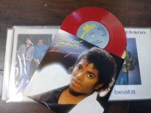 Limited Edition Red Vinyl 45s Michael Jackson OFF THE WALL
