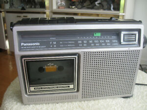 VINTAGE PORTABLE AM FM PANASONIC RADIO CASSETTE RECORDER