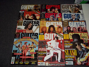 (9) Guitar World Magazines from 2007/08