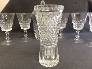 Collectible Antique Crystal Glasses, Bud Vases & Covered Dish London Ontario image 5