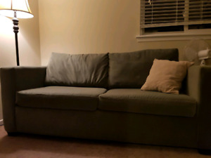 Pullout love seat couch