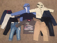 Baby boy bundle 9-12 tops jeans next and other 55p each!