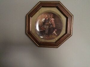 Norman Rockwell plates in frames Stratford Kitchener Area image 2