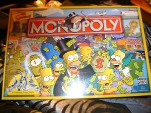 THE SIMPSONS MONOPOLY GAME