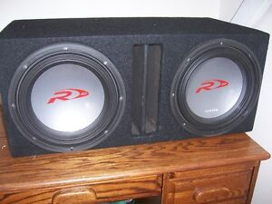 2 12 INCH ALPINE SUBS IN PORTED BOX