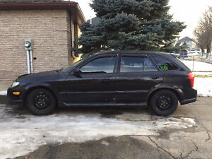 2002 Mazda Protege5 hatchback for parts - With 2 sets of tires