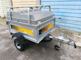 Erde 122 trailer with Abs hard top and load bars