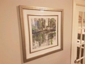 Framed wall art with in-lay, paid $80 for it