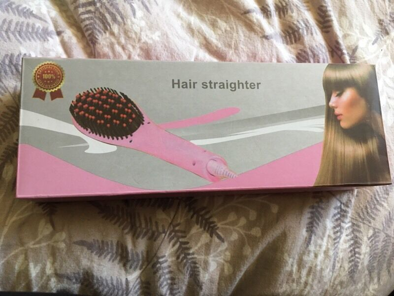 Hair straightener brush - used once