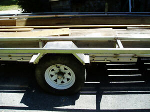 Pontoon Boat /  utility trailer  -  stainless steel
