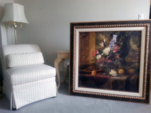 Framed Picture...SEA VIEW AND PEONIES by MURPHY MACDONALD