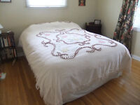 Vintage Chenille Double Bedspread