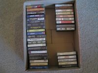 34 CASSETTE TAPES  from the 70's, 80's & 90's