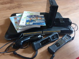 Black Wii with Wii Fit and Games