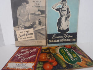 WW2 COOKBOOKS LUNCH BOXES FOR WAR WORKERS HOUSESOLDIERS RECIPES