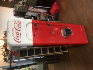 Vintage Coke Machine Display