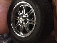 Studded Snow Tires and Rims for sale