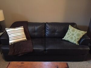 Dark Espresso, Faux leather couch