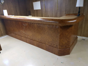 old school leather and wood bar.  make an offer want gone