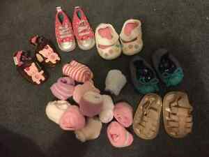 Baby girl shoes and socks