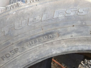 215 70 17 x 2 winter tires studless