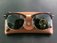 Ray Ban Clubmasters 49mm Tortoise/Gold/Green