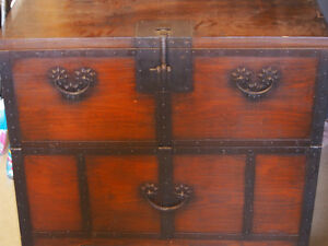 one of a kind antique side table