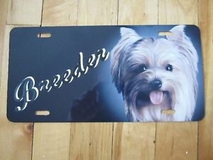 yorkshire terrier breeder licence plate
