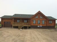 Water Front Log Home Humboldt Lake East