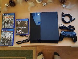 Playstation 4 500GB & 3 games