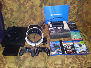 PS4 & VR headset with games