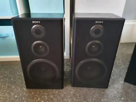 Pair of Sony 3 way speakers