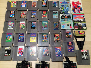 NES Extra Controllers and 30 Games. $10 Each and Up
