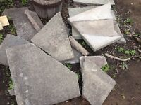 FREE BROKEN SLABS for crazy paving path or wall