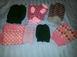 Mittens and baby sets