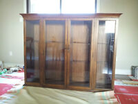 MATCHING DINING ROOM HUTCH & UPPER CABINET