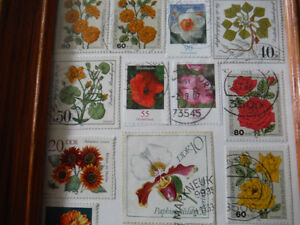 Flowery Stamps in a Frame Peterborough Peterborough Area image 2